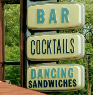 I miss being able to go out for a dancing sandwich: I miss being able to go out for a dancing sandwich