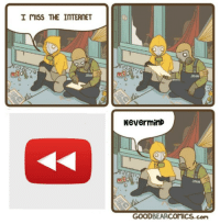 Internet, Com, and The Internet: I mISS THE INTERNET  JOH  JOHN  6  NeverminD  JOHN  GOODBEARCOMICS.com clap clap y e a r review