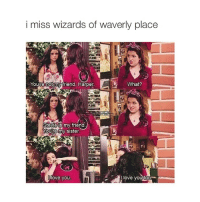 Sisters, Friend, and Comment: i miss wizards of waverly place  Youre not my iriend, Harper  What?  my friend  Youre my sister.  love you  too  ove you- comment something I would say
