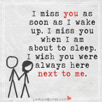 I do miss you so much... it's because I love you so much and all I want in this life is to spend it with you...: I miss you as  soon as I wake  up. I miss you  When I am  about to sleep  I wish you were  always here  next to me.  Like Love Quotes.com I do miss you so much... it's because I love you so much and all I want in this life is to spend it with you...