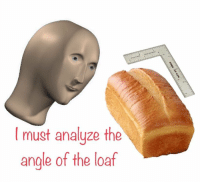 Time, Angle, and Loaf: I must analuze the  angle of the loaf Time to analyzing thy loaf https://t.co/G6WDECZ2uG