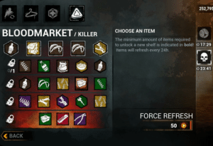 I need help. I've unlocked a few killers now on mobile, and I want add ons for them. And I've pushed through at least 8 different bloodmarkets but it's only giving me trapper add ons. If anyone has any idea why, and how to change it to other killer add ons, please let me know. Thanks: I need help. I've unlocked a few killers now on mobile, and I want add ons for them. And I've pushed through at least 8 different bloodmarkets but it's only giving me trapper add ons. If anyone has any idea why, and how to change it to other killer add ons, please let me know. Thanks