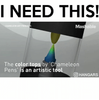 Memes, Chameleon, and Tool: I NEED THIS!  Mashable  CHAMELEON ART PRODUC  The color tops by Chameleon  Pens' is an artistic tool  CO HANGARS follow me (@hangars) for more! ❤️
