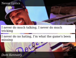 Dom Kennedy-Never