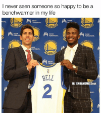 He knows he'll get his rings 😂 (via @nbamemesgoat) ➡Snapchat 👻 - ballershype ➡TURN ON POST NOTIFICATIONS 💥 ➡ FOLLOW @ballershype❗ Tags: nba nbamemes: I never seen someone so happy to be a  benchwarmer in my life  KAISER  KAISER  PETE  ARRIO  ARRIO  KAISER  KAISER  PERMANENTE  KAISER  PERMANENTE  ARRIO  KAISER  PER  BELL  IG: @NBAMEMESGoat  2 He knows he'll get his rings 😂 (via @nbamemesgoat) ➡Snapchat 👻 - ballershype ➡TURN ON POST NOTIFICATIONS 💥 ➡ FOLLOW @ballershype❗ Tags: nba nbamemes