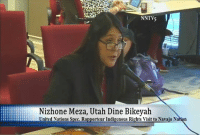 """""""Tribes need and deserve to be acknowledged as sovereigns and have their sovereign voices heard in these political discussions today, especially when it involves energy development on or near ancestral lands."""" #StandWithBearsEars!: I  NNTV5  Nizhone Meza, Utah Dine Bikeyah  United Nations Spec, Ra  orteur Indigenous Rights Visit to Navajo Nation """"Tribes need and deserve to be acknowledged as sovereigns and have their sovereign voices heard in these political discussions today, especially when it involves energy development on or near ancestral lands."""" #StandWithBearsEars!"""
