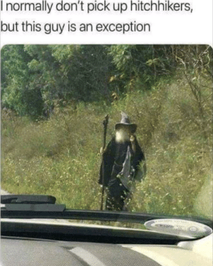 I've been waiting for you via /r/memes https://ift.tt/321XIF0: I normally don't pick up hitchhikers,  but this guy is an exception I've been waiting for you via /r/memes https://ift.tt/321XIF0