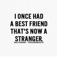 truth life factsonly repost quotes sadface: I ONCE HAD  A BEST FRIEND  THAT'S NOW A  STRANGER truth life factsonly repost quotes sadface