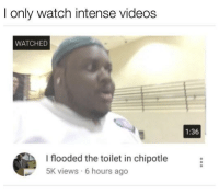 <p>Ni🅱️🅱️a I&rsquo;m 🅱️weating</p>: I only watch intense videos  WATCHED  1:36  I flooded the toilet in chipotle  5K views 6 hours ago <p>Ni🅱️🅱️a I&rsquo;m 🅱️weating</p>