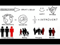 Introvert, Target, and Tumblr: I PERSONALITY STYLES  GREAT = BOLD  HAPPY  SOCIABLE  A  1-  INTROVERT  Nation oFExtroverts  WHO ARE WE?  /3 are ntrov erts  Raising  Makagihg  Married thedailywhat:  Quiet: The Power of Introverts  Did you know that one out of three Americans areintroverts? Check out this new web documentary series exploring one of the least-celebrated personality types in modern society. Based on the book Quiet by Susan Cain.