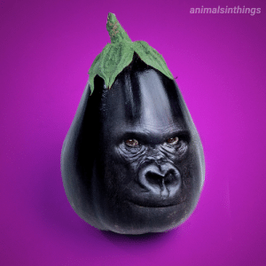 I photoshopped a Gorilla into an Eggplant for your viewing pleasure.: I photoshopped a Gorilla into an Eggplant for your viewing pleasure.
