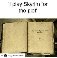 QOTP: Favourite books from any TES game? ~ Repost from @tes_dawnbreaker ~ Accounts: - Other TES IG: @tundraofskyrim - Twitter: holly_rowlands_ - Snapchat: cocoachicken - YouTube: Link in bio. - Personal: @holly_rowlands_ • tes elderscrolls theelderscrolls elderscrollsv theelderscrollsv elderscrollsonline eso tamriel skyrim skyrimmeme skyrimmemes gaming game games rpg dovahkiin Dragonborn Bethesda dragon dragons lustyargonianmaid thelustyargonianmaid tinysmile: I play Skyrim for  the plot  Che Custy Argonian maib  Uorume 2  Crossius Curio  11 tes_dawnbreaker QOTP: Favourite books from any TES game? ~ Repost from @tes_dawnbreaker ~ Accounts: - Other TES IG: @tundraofskyrim - Twitter: holly_rowlands_ - Snapchat: cocoachicken - YouTube: Link in bio. - Personal: @holly_rowlands_ • tes elderscrolls theelderscrolls elderscrollsv theelderscrollsv elderscrollsonline eso tamriel skyrim skyrimmeme skyrimmemes gaming game games rpg dovahkiin Dragonborn Bethesda dragon dragons lustyargonianmaid thelustyargonianmaid tinysmile