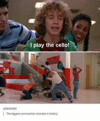 History, Play, and Cello: I play the cello!  uliacaroled  I The biggest overreaction recorded in history
