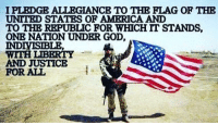 America, Friends, and God: I PLEDGE ALLEGIANCE TO THE FLAG OF THE  UNITED STATES OF AMERICA AND  TO THE REPUBLIC FOR WHICH IT STANDS,  ONE NATION UNDER GOD,  IND  LIBERTY  AND JUSTICE  FOR ALL . ✅ Double tap the pic ✅ Tag your friends ✅ Check link in my bio for badass stuff - usarmy 2ndamendment soldier navyseals gun flag army operator troops tactical armedforces weapon patriot marine usmc veteran veterans usa america merica american coastguard airman usnavy militarylife military airforce tacticalgunners