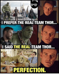 Watch, Darryl comes in to save the day in Infinity War. 😂 ---- Credit: @theblerdvision 👈🏻: I PREFER THE REAL TEAM THOR...  IG I THEBLERDVISION  SAID THE REAL TEAM THOR.  PERFECTION. Watch, Darryl comes in to save the day in Infinity War. 😂 ---- Credit: @theblerdvision 👈🏻