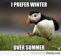 I PREFER WINTER  OVER SUMMER  featured on  iFunny.com