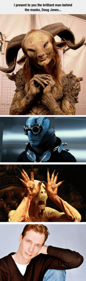 srsfunny:The Same Actor Behind All These Characters: I present to you the brilliant man behind  the masks, Doug Jones... srsfunny:The Same Actor Behind All These Characters