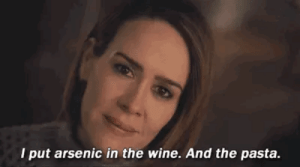 Funny, Gif, and Target: I put arsenic in the wine. And the pasta. zednanrefkcaj: I really don't have an explanation for why this gif is so funny