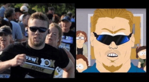 Principal, Race, and Weekend: I ran a race this past weekend. The photo of me at the finish had an uncanny resemblance to PC Principal.