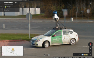 I randomly spotted another google maps car: I randomly spotted another google maps car