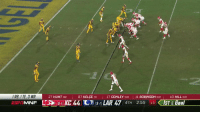 Espn, Memes, and Chiefs: I RB, I TE, 3 WR  ESF iMNF  27 HUNT RB  87 KELCE TE  17 CONLEY WR 11 ROBINSON WR  10 HILL WR  [9-1] KC 44 11) [9-1] LAR 47 4TH  2:55  15く1ST & Goal KC TAKES THE LEAD.  51 points for the @Chiefs! #ChiefsKingdom  📺: #KCvsLAR on ESPN https://t.co/E8BK41XPRv