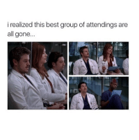 Memes, Best, and No Lie: i realized this best group of attendings are  all gone... Addy, Mark, Derek and Burke were the best no lie 💁🏼 greysanatomy