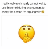 Emoji, Memes, and 🤖: I really really really really cannot wait to  use this emoji during an argument to  annoy the person I'm arguing with ShuuuhYurMoutRudeboy StopWastingYourTime 🤐