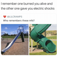 Alive, Facts, and Funny: I remember one burned you alive and  the other one gave you electric shocks  @LILCRAMPS  Who remembers these mfs? Facts
