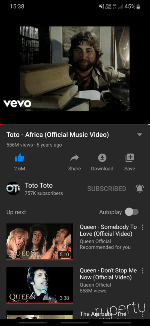 I removed the dislike button from toto africa: I removed the dislike button from toto africa