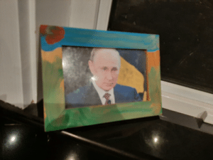 Putin, Mom, and How: I replaced this childhood picture of me with Putin. Let's see how long before my mom notices.