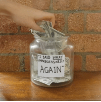 """Sorry, Who, and This: """"I SA1D SORRY  UNNECE SSARILY  AGAIN Know anyone who needs this jar? 😂"""