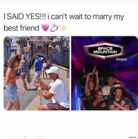 Double tap for good luck 🥰💍 @peopleareamazing @peopleareamazing @peopleareamazing: I SAID YES!!! i can't wait to marry my  best friend  SPACE  MOUNTAIN  Disacgland Double tap for good luck 🥰💍 @peopleareamazing @peopleareamazing @peopleareamazing