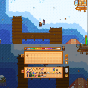 I saw people growing plants in the submarine so I wanted to try it as well but after the festival left they just gave me a chest (on the beach) with my pot...: I saw people growing plants in the submarine so I wanted to try it as well but after the festival left they just gave me a chest (on the beach) with my pot...
