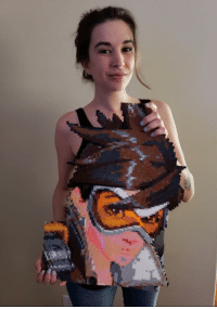 Saw, Thought, and Art: I saw people sharing their perler art here, so I thought I would share my Tracer!
