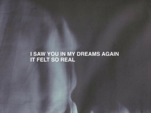 My Dreams: I SAW YOU IN MY DREAMS AGAIN  IT FELT SO REAL
