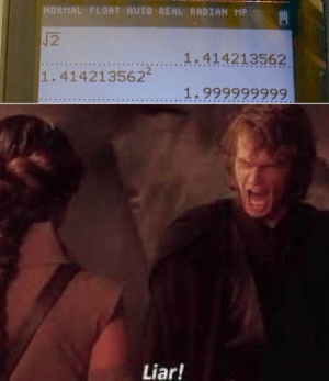 I see through the lies of the calculators: I see through the lies of the calculators