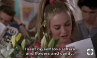 Me on Valentine's Day https://t.co/4C8cSrcINp: I sent myself love letters  and flowers and candy, Me on Valentine's Day https://t.co/4C8cSrcINp