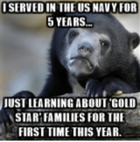 A what kind of family?: I SERVED IN THE US NAVY FOR  5 YEARS  JUST LEARNING ABOUT GOLD  STAR FAMILIES FOR THE  FIRST TIME THIS YEAR. A what kind of family?
