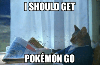 I SHOULD GET  POKEMON Go With all the Pokémon Go on the front page..