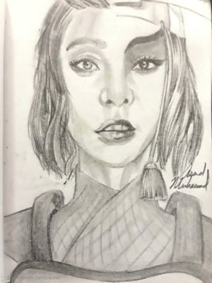 I sketched Chinese Actress Fan BingBing as Suki: I sketched Chinese Actress Fan BingBing as Suki