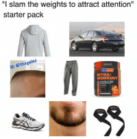 """Memes, Tbt, and Starter Pack: """"I slam the weights to attract attention""""  starter pack  IG: @thegainz  NTRA  WORKOUT Tbt"""