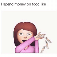 Af, Food, and Gym: I spend money on food like Broke af...