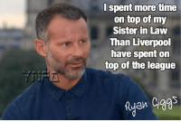 Chelsea, Memes, and The League: I spent more time  on top of my  Sister in Law  Than Liverpool  have spent on  top of the league  en Chelsea go top. This seasons supposed champions aren't