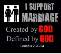 genesys: I SUPPORT  MARRIAGE  Created by  GO  Defined by  GOD  Genesis 2:20-24