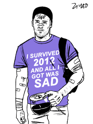 Target, Tumblr, and Blog: I SURVIVED  201  AND ALL  GOT WAS  SAD dontdierobb:i forgot to repost my mans here. the hawkeye comic is 5 years old… damn