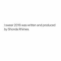 Happy new year🎉 hopefully 2017 will be better🙃 Question: what's your New Years resolution? greysanatomy greysanatomyfacts greysabc: I swear 2016 was written and produced  by Shonda Rhimes. Happy new year🎉 hopefully 2017 will be better🙃 Question: what's your New Years resolution? greysanatomy greysanatomyfacts greysabc
