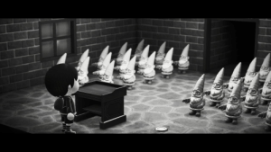 I swear to God this is just the weekly Gnome meet up and not what it looks like.: I swear to God this is just the weekly Gnome meet up and not what it looks like.
