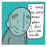 New comic on Webtoons about smiling. Link to the full comic in my profile.: I tend  to smile  S even  0 when  T ee  terrible  Inside New comic on Webtoons about smiling. Link to the full comic in my profile.
