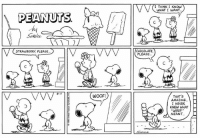 This strip was published on August 11, 1996.🍦: I THINK I KNOW  WHAT I WANT.  PEANUTS  STRAWBERRY PLEASE..  CHOCOLATE  PLEASE  8-  WooF!  THATS  AMAZIN6.  I NEVER  KNEW WHAT  MEANT This strip was published on August 11, 1996.🍦