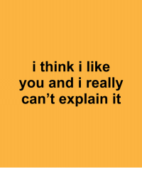 Think, You, and Really: i think i like  you and i really  can't explain it